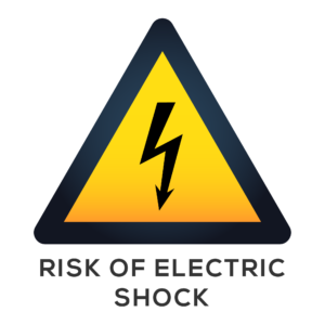 Risk of Electric Shock Sign